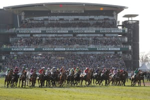 The start during the 2018 Grand National
