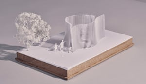 a model of Asif Khan's summer house design.