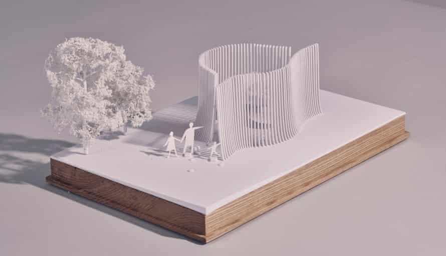 a model of Asif Khan's summer house design.