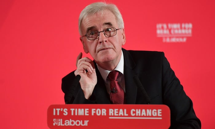 Labour would rewrite rules of UK economy, says John McDonnell