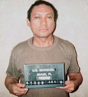 Noriega in a justice department mugshot