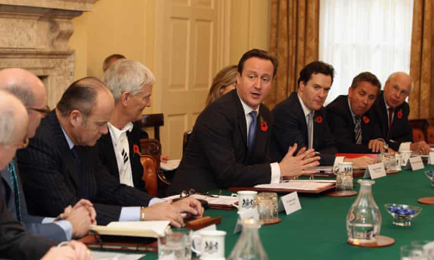 David Cameron Chairs The First Meeting Of The Business Advisory Group in 2010