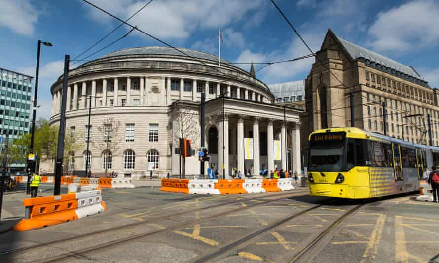 A Metrolink tram