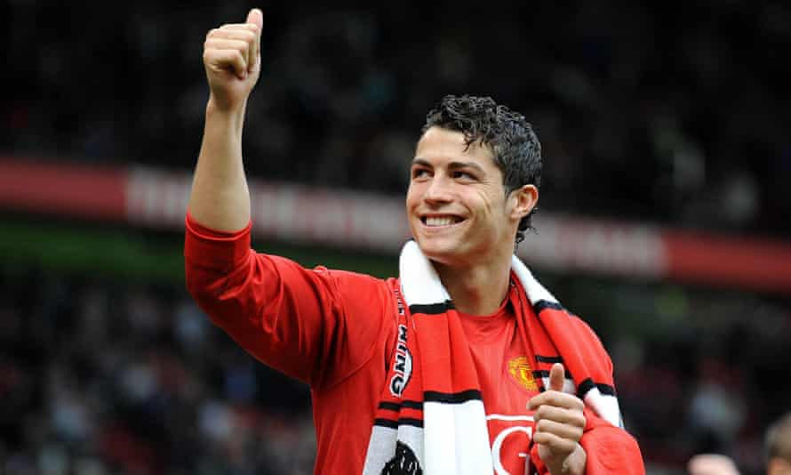 Cristiano Ronaldo scored 118 goals in 292 games during his first spell with Manchester United.