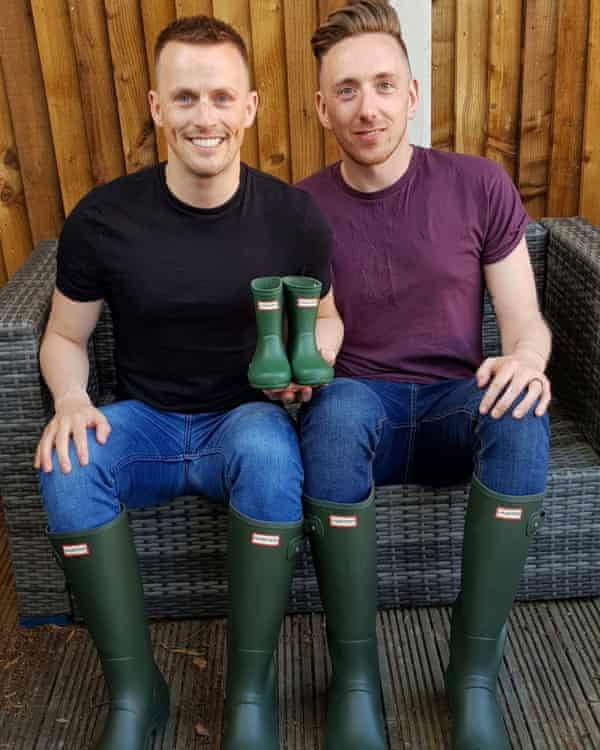 Daniel Clark-Bland, left, with his husband.
