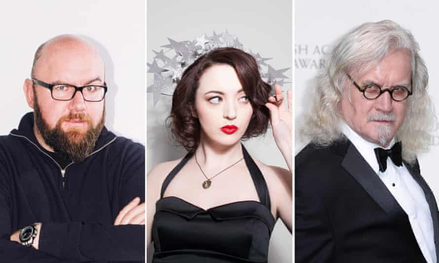 Something in the water? … Scottish comedians (l to r) Scott Gibson, Fern Brady and Billy Connolly