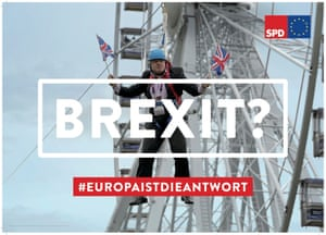 German Social Democrat poster saying: 'Brexit? Europe is the answer'