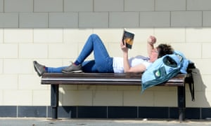 A reader on Boscombe promenade in Bournemouth earlier this month.