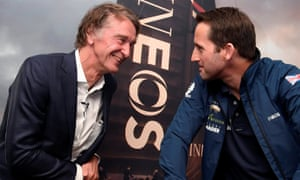 Jim Ratcliffe, CEO of Ineos, with British Olympic sailor Ben Ainslie in London.