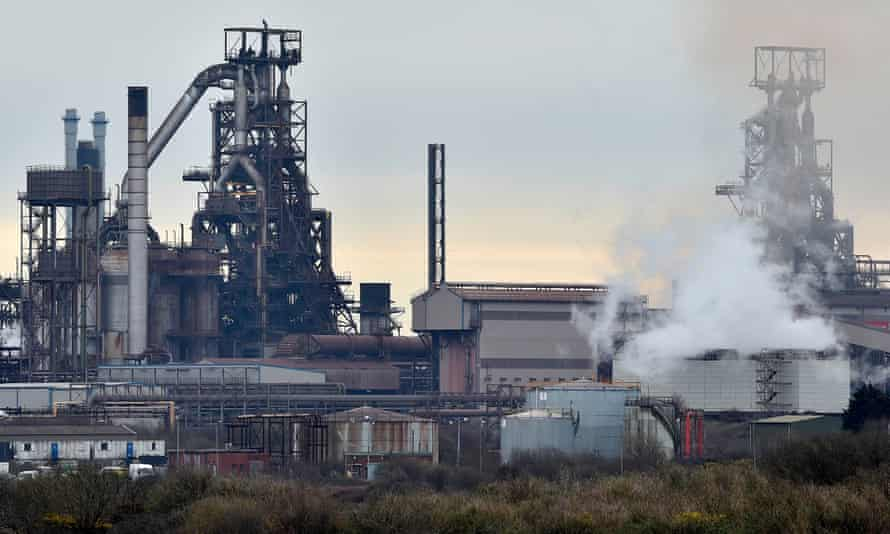 Tata's steel works in Port Talbot.