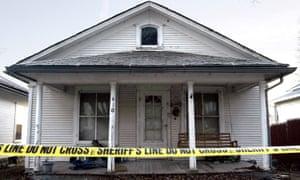 The house in Missouri where Bobbie Jo Stinnett was murdered.