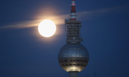 The broadcast tower at Alexanderplatz, Berlin. There are thought to be 18,000 Britons in the state.