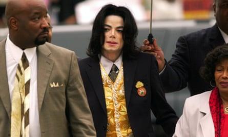 Michael Jackson at his 2005 trial.