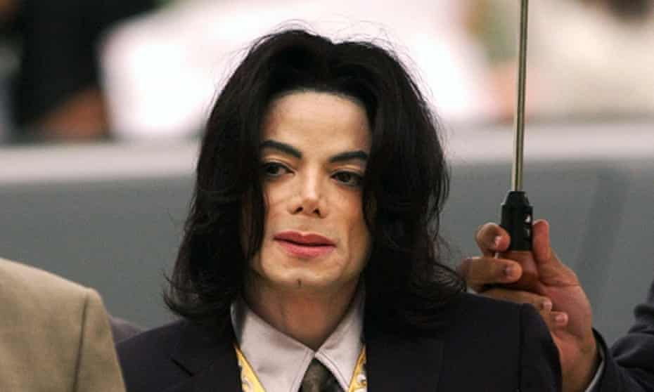 Michael Jackson during the 2005 trial in which he was accused of child molestation.