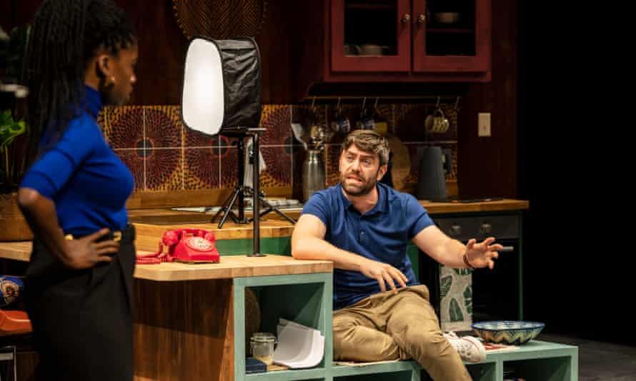 Faith Omole as Misha and James Corrigan as Ralph.