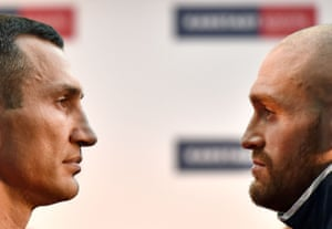Lots of words have been exchanged, but now the talking stops and the fight starts to decide the heavyweight champion of the world