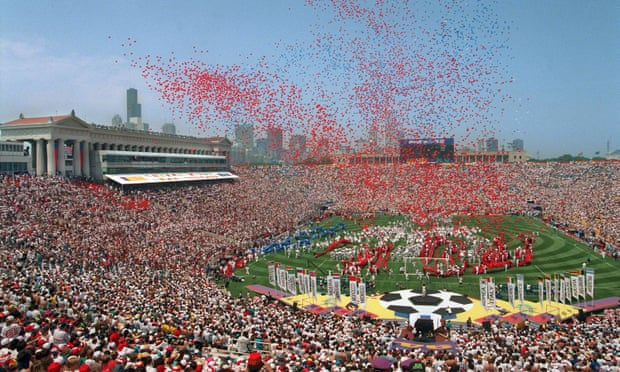 The opening ceremony of the 1994 World Cup in the US, the last time the tournament was hosted in the Concacaf region