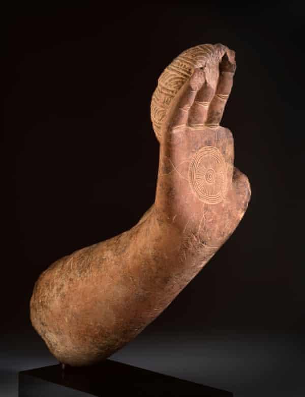 'Imposing calm and stillness' … a Buddha fragment.