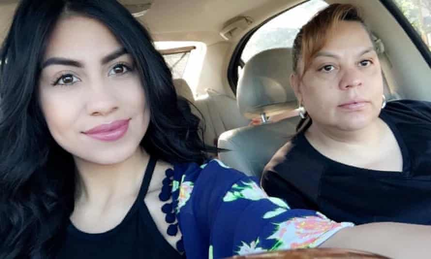 Leslie Rosales, one of Mendoza's daughters, poses with her mother in 2016.