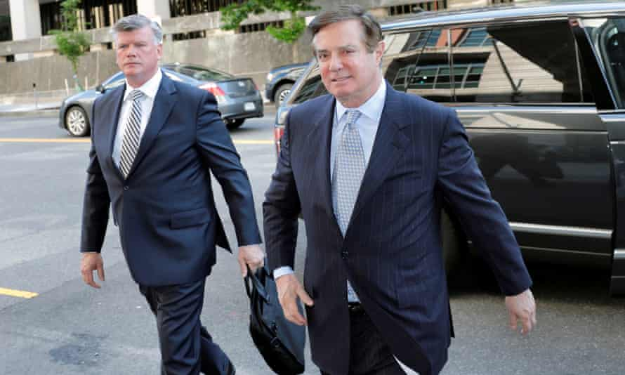 Manafort and his lawyer Kevin Downing in May.
