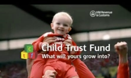 An HMRC ad from 2005, when child trust funds were launched