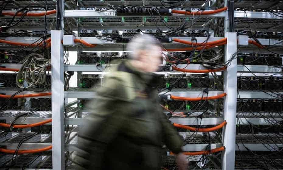 A bitcoin data mining centre in Bratsk, Russia