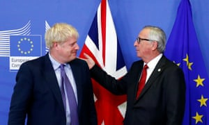 Jean-Claude Juncker (right) and Boris Johnson at the EU summit.