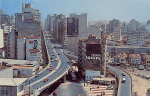 The Minhocão in the 1970s.