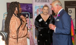 'I had a lot of help myself from the Prince's Trust – that is how I set up my first salon at age 28': with Jazmin Lee and Prince Charles a Prince's Trust reception in June 2019.