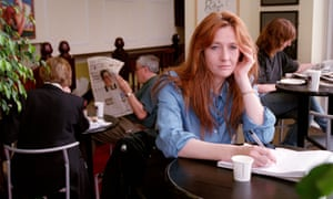 JK Rowling seen at work writing her second children's book in an Edinburgh cafe in July 1998
