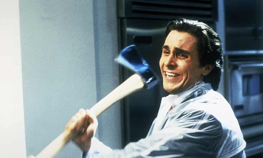 Christian Bale as Patrick Bateman in American Psycho.