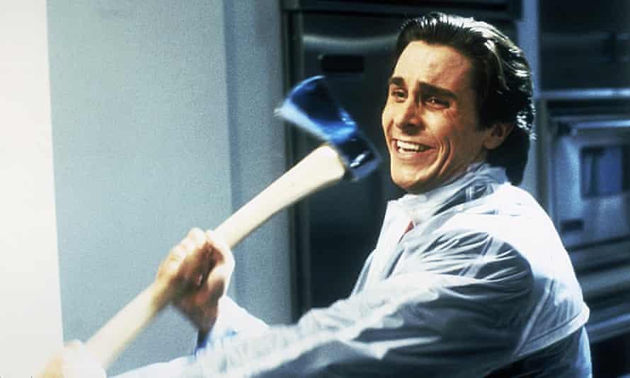 Christian Bale as Bateman in the film.