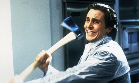 Christian Bale as Patrick Bateman in the 2000 film American Psycho.