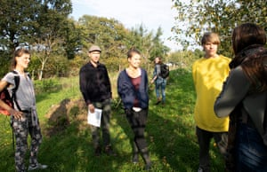Students in the Food Forest