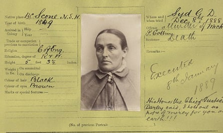The prison file of Louisa Collins, who was hanged for murder.