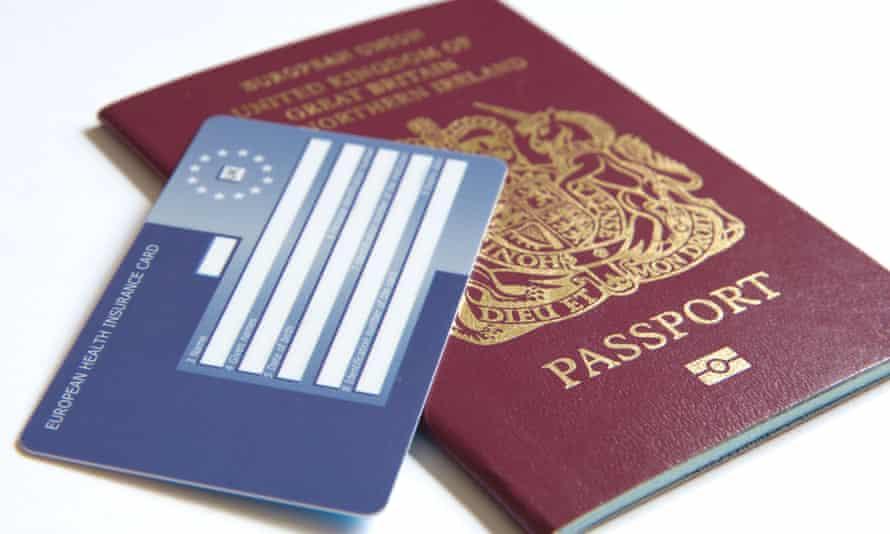 UK passport and Ehic card