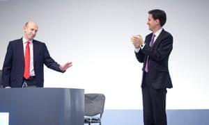 John Healey and Ed Miliband