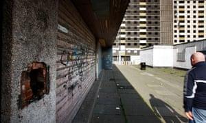 Empty high flats in Sighthill, Edinburgh.