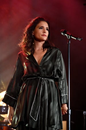 'Charged intimacy': Jessie Ware in her PJs.