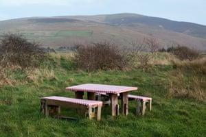 Rising Five: Picnic Table, A595, Bootle, Cumbria