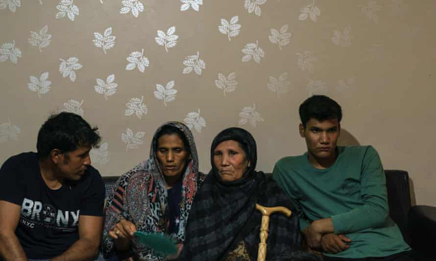 Durdana and her family in a smuggler's house in the centre of Van, Turkey 2021.