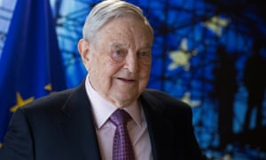 George Soros ahead of a meeting at the European commission