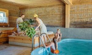 Lantus sauna and traditional farmhouse.