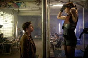 Tye Sheridan and Olivia Cooke in Ready Player One.