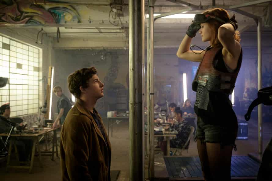 Tye Sheridan and Olivia Cooke in Ready Player One.