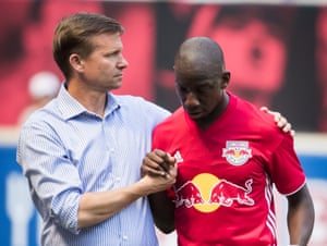 Jesse Marsch with Bradley Wright-Phillips during their time at New York Red Bulls together.