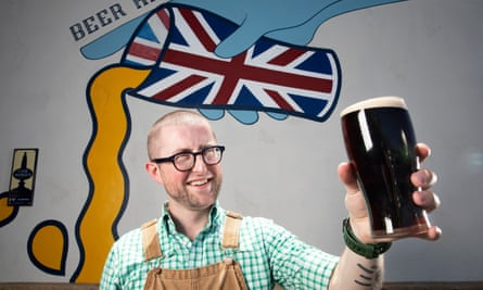 Andy Black, head brewer at Yorkshire Square Brewery in Torrance, California, which champions British beer.
