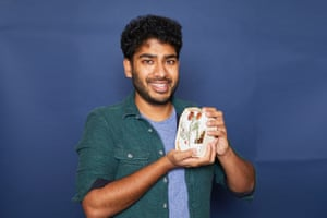 Tamal Ray with his favourite Christmas cake from the taste testing.
