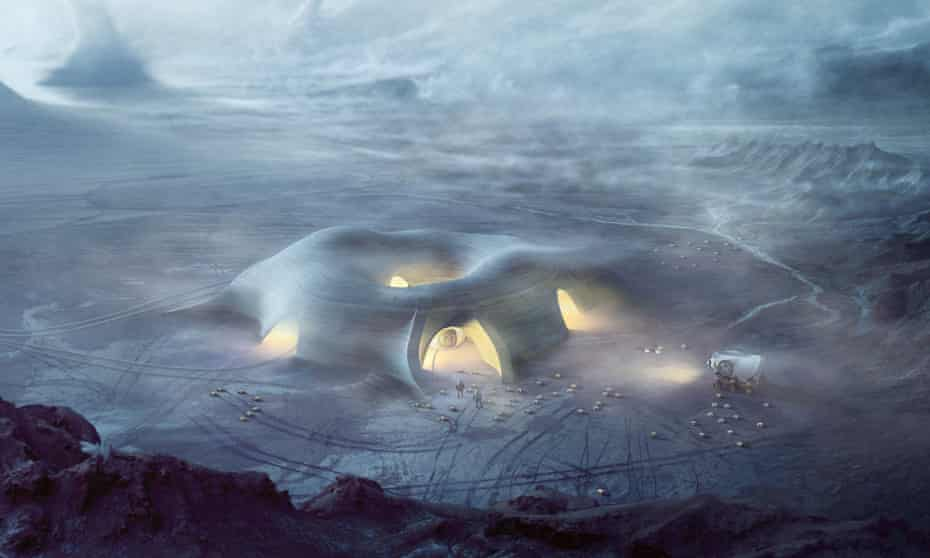 Luxuriously appointed … how a house on Mars might look.