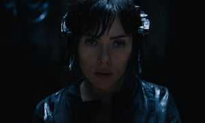 Scarlett Johansson as the Major in Ghost in the Shell.